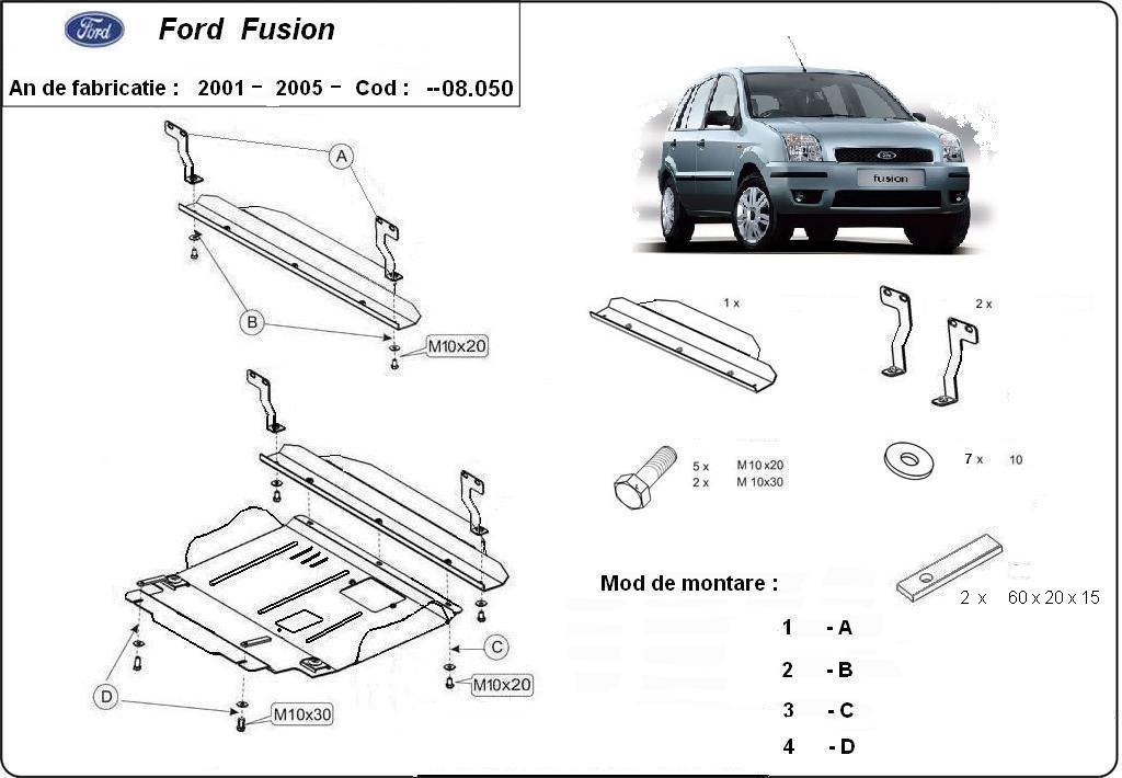 Informatii despre scutul de motor marca Ford Fusion