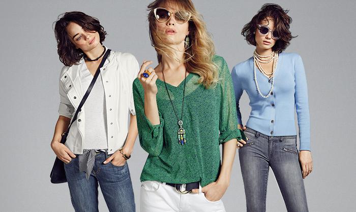 Noi modele de blugi dama prespalati, bluze de vara si moderne pe site-ul ShopAlert